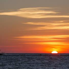 Ludington North Breakwater Light at Sunset - Adam Romanowicz