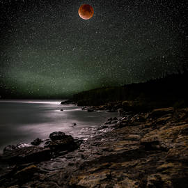 Brent L Ander - Lunar Eclipse over Great Head