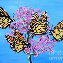 Karen Jane Jones - Butterfly Feeding Frenzy