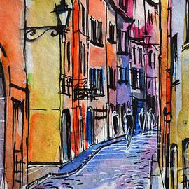 Mona Edulesco - LYON CITYSCAPE - STREET SCENE #01 - Rue Saint Georges