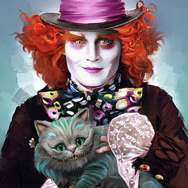Mad Hatter and Cheshire Cat - Melanie D