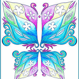 Irina Sztukowski - Magic Floral Butterfly Baby Blue