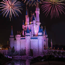 Chris Bordeleau - Magic Kingdom Castle under Fireworks