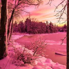 Claudia Mottram - Magical sunset after snow storm