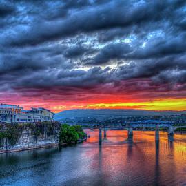 Reid Callaway - Majestic Chattanooga Sunset Bridge Art