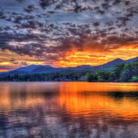 Reid Callaway - Majestic Glory Lake Junaluska Sunset Blue Ridge Mountains North Carolina