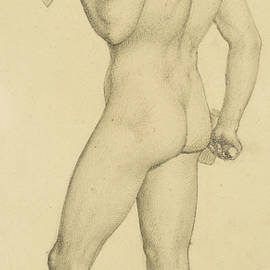 Male - Academic nude Study posed as a Sculptor - Ford Madox Brown