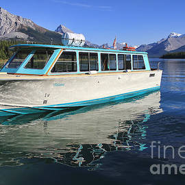 Teresa Zieba - Maligne Lake Tour Boat Reflection
