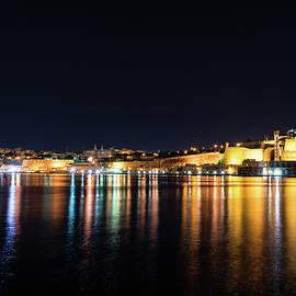 Georgia Mizuleva - Maltese Glow - Valletta Malta Grand Harbour at Night