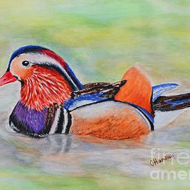 Olga Hamilton - Mandarin Duck Watercolor Painting