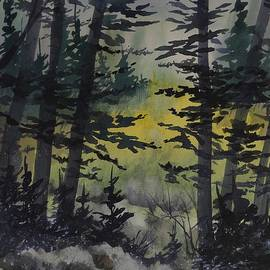 David K Myers - Manistee National Forest,  Watercolor Painting