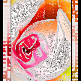 Gretchen Wrede - Many Colors of a Rose Abstract