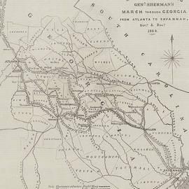 Map illustrating General Sherman