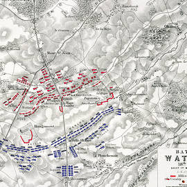 Map of the Battle of Waterloo - Alexander Keith Johnston