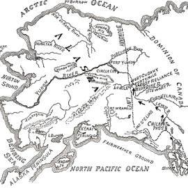 Map of the Klondike Gold Diggings and vicinity, Alaska - American School