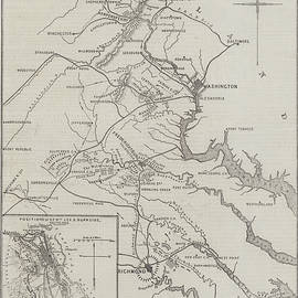Map of the Seat of War in Virginia - John Dower