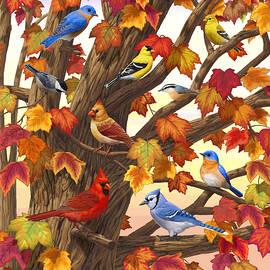 Crista Forest - Maple Tree Marvel - Bird Painting