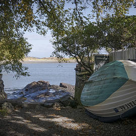 Jane Maurer - Marblehead, MA. Boat on pathway to beach.