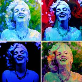Rich  Ray Art - Marilyn Abstract Mixed Media Collage