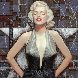Julia Khoroshikh - Marilyn Monroe, Old Hollywood, celebrity art, famous woman, brightest blonde