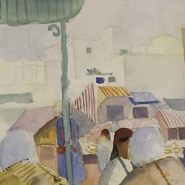 Market in Tunis II  - August Macke