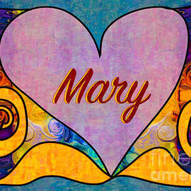 Omaste Witkowski - Mary Abstract Greeting Card Artwork by Omaste Witkowski