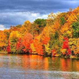 Michael Mazaika - Maryland Country Roads - Autumn Colorfest No. 10 - Lake Linganore Frederick County MD