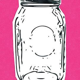 Mason Jar Hot Pink- Art by Linda Woods - Linda Woods