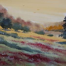 David K Myers - Meadow Flowers, Watercolor Painting