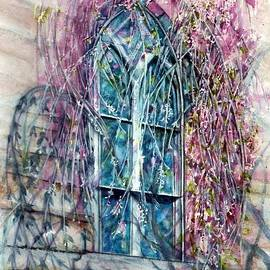 Janine Riley - Meet me in the Springtime - Stained glass window