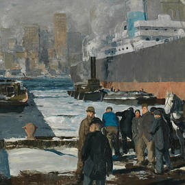 Men of the Docks - George Bellows