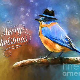 Tina  LeCour - Merry Christmas Bluebird