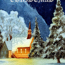 Bill Holkham - Merry Christmas Card Yosemite Valley Chapel
