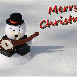 Deborah A Andreas - Merry Christmas Snowman Burl