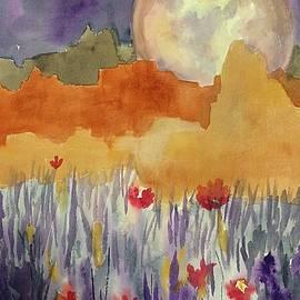 Ellen Levinson - Mesas in Moonlight Abstract