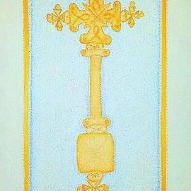 Assumpta Tafari Tafrow Neo-Impressionism and Design - Meskel- Ethiopian Orthodox Tewahido Icon