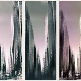 Metropolis Rush Hour Triptych - Jessica Jenney
