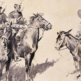 Mexican Gendarmes asking the Way - Frederic Remington