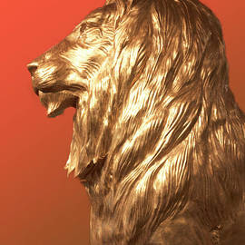 MGM Profile Lion in Red