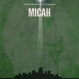 Micah Books Of The Bible Series Old Testament Minimal Poster Art Number 33 - Design Turnpike
