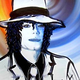 Danielle  Parent - Michael Jackson White Fedora Alcohol Inks