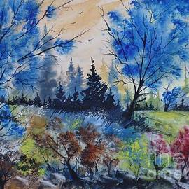 David K Myers - Michigan Spring, Watercolor Painting
