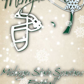 MICHIGAN STATE SPARTANS CHRISTMAS CARD 2 - Joe Hamilton