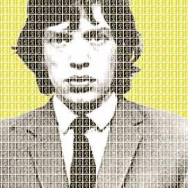 Gary Hogben - Mick Jagger Mug Shot - Yellow
