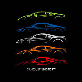 Mid-engine Sports Cars SilhouetteHistory - Gabor VIda