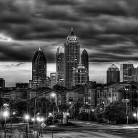 Reid Callaway - Midtown Atlanta Towers Over Atlantic Commons Black and White Art