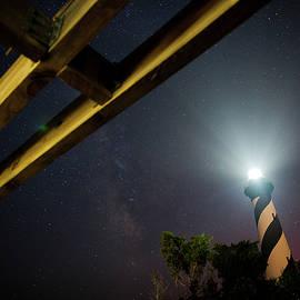 Daniel Lowe - Milky Way inside Hatteras Light Pavillon