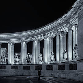 Joan Carroll - Millennium Monument Colonnade BW
