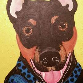 Min Pin dog portrait