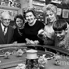 Miniature racing cars at a hobby shop run by Rich Palmer in 1962 - The Harrington Collection